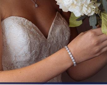 CZ Bracelet, Wedding Bracelet, Bridal Bracelet, Wedding Jewelry, Bridal Jewelry, Crystal Jewelry, Bridesmaids Bracelet, Zirconia Bracelet