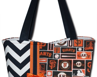 NEW Handmade Large San Francisco Giants MLB Baseball Tote Purse Handbag