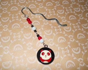 Adorable and Fun Red Panda Silver Bookmark!