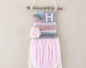 Personalised Weave Wall Hanging - Nursery decor baby gift
