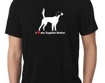 I Love My English Setter T-Shirt llewellyn T857