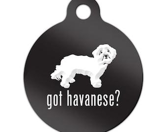 Got Havanese Engraved Round Key Chain Dog Tag blanquito v2 - MRD-360