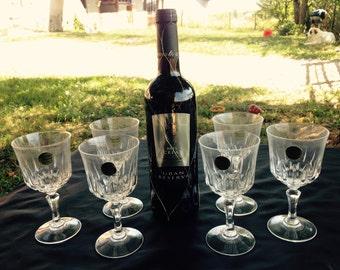 Crystal Wine Glasses Etsy