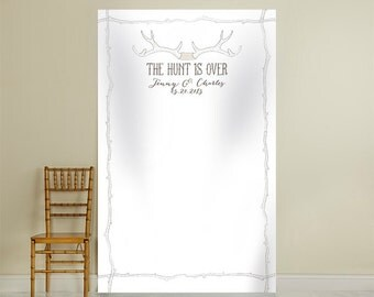 Personalized Photo Booth Backdrop - The Hunt Is Over