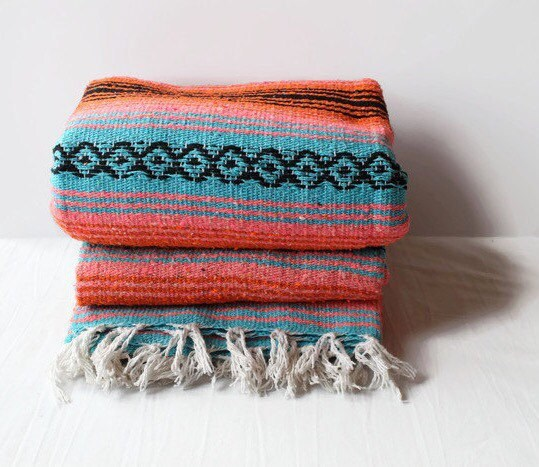 Mexican Beach Blanket: MEXICAN BLANKET // Beach Yoga Adventure Blanket By