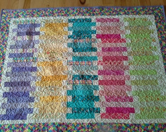 COLORFUL AND CUTE!!! Baby Quilt or Kid Quilt
