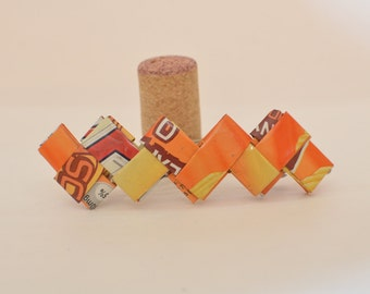 Recycled Barrette made from Orange Packaging