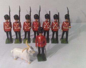 Vintage Britains Ltd lead hollow-cast soldiers, Royal Welsh Fusiliers
