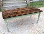 Farmhouse Coffee Table, Reclaimed Wood Coffee Table, Coffee Table, Farm Table, Rustic Coffee Table