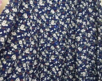 VINTAGE 90s  long floral grunge skirt
