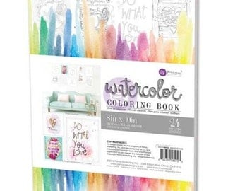 Watercolor Coloring Book by Prima Marketing