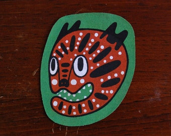 Tiger Screen Printed Patch