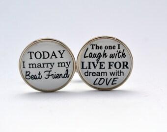Today I Marry My Best Friend  Groom Cufflinks