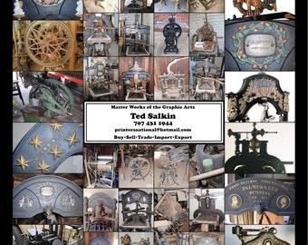 Giant Letterpress Auction May 26 Wood Type, Press.s Steam Punk, Type Specimen Books