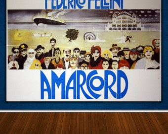 Original Movie Poster Amarcord 140x100 CM - Federico Fellini