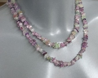 Necklace fluorite purple/green without lock MK132