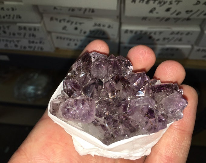 1 Flat Amethyst Clusters- 1.4 - 1.6 LBS per flat- Amethyst from Uruguay- Healing Crystals \ Reiki \ Healing Stone \ Healing Stones \ Chakra