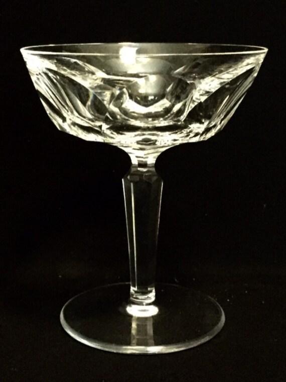 "FREE SHIPPING-Elegant-Waterford-Cut Crystal-Sheila-Cut Panels-Stemmed-4 3/4""-Champagne/Sherbet Glass-Old Hallmark"