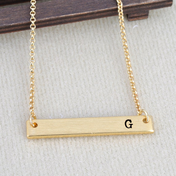 Letter g necklace initial alphabet 26 personalized a to z for Z s fine jewelry