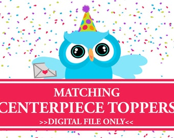 Centerpiece Toppers, Matching Party Decorations, Digital