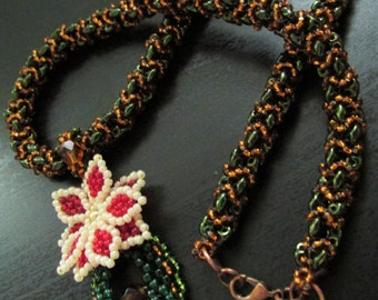 Handmade Esmeralda beaded necklace