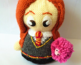 Ginny Weasley from Harry Potter, Hand Knitted Plush Toy