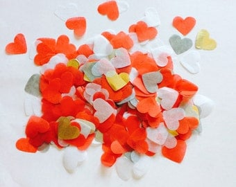 """1"""" Red Love Heart Confetti, Valentines, Wedding, Birthday, Party, Gift"""