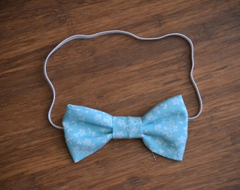 Girl's Blue Floral Headband