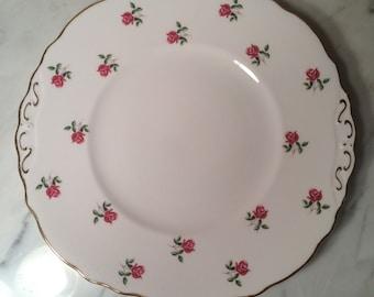Colclough Bone China Pink Rose Gold Rimmed Dinner Plate