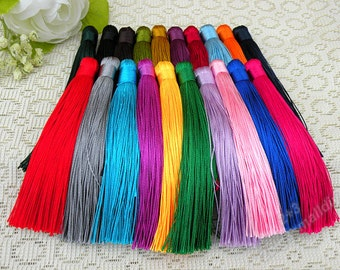 10pcs of 12cm Silk tassel pendant,Fringe Tassel for handbag or keychain,Chinese knot tassel accessories SALE NOW(20 colors)