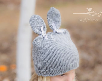 Bunny Hat, Easter Hat, Bunny Ears, Knit Hats for Kids, Bunny Costume, Bunny Bonnet, Knit Bunny Hat, Bunny Beanie, Character Hat