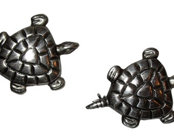 Mexican Sterling Turtle Pin Set