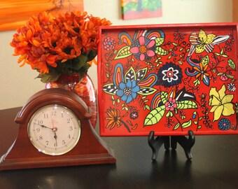 Wacky floral tray