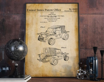 Buggy Car| Buggy Cross| Automobile Prints| Patent Prints| Mechanic Gifts| Garage Decoration| Car Enthusiast Gifts| Man Cave Mens Gift|HPH043