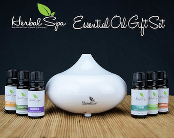Oil Diffusers by Herbal Spa Aromatherapy with Pure Essential Oil Set