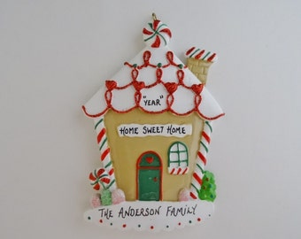 Gingerbread House Ornament - Home Sweet Home Ornament - New Home Ornament - New Home Family Ornament