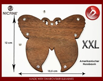 Magnetic XXL Butterfly from fine wood with SWAROVSKI ELEMENTS