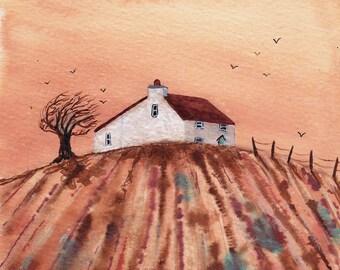 Windy Hill - Fine Art Print from an Original Artwork by Bridget Wilkinson