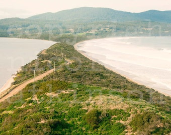 Australian Beach Sunset Waves Landscape Home Decor Wall Print Stunning View Tasmania Bruny Island Wanderlust Travel Fine Art Photography