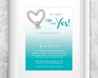 Engagement Party Invitation TEMPLATE