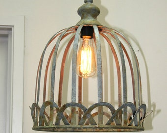 Vintage Antique Style Rustic hanging light/ Pendant light with Edison Bulb - Large