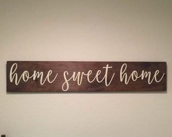 LARGE, Home Sweet Home Rustic wood sign, hand painted Home Sweet Home, Farmhouse decor