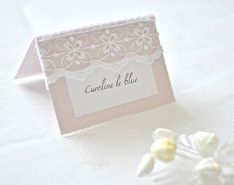 Lace wedding place cards, lace place cards,wedding place cards, Pink place cards, pink placement cards, wedding placement cards