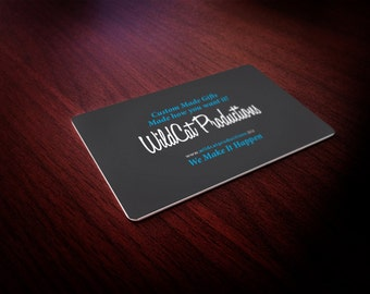 Professional Aluminum Business Cards Rounded Corners with your details