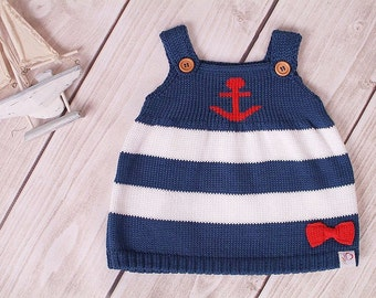 Baby dress Knit Dress Tunic Marine Maritim