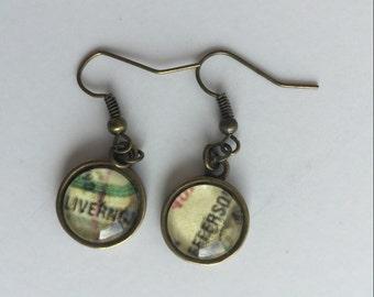 Detroit City map earring set - Antique Bronze