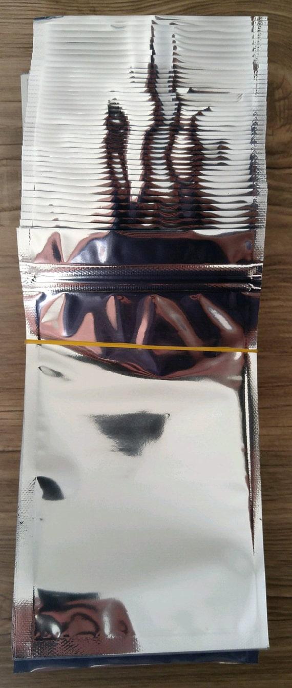 100 Aluminum Foil Ziplock Bags