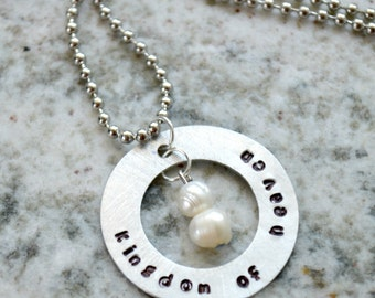 Hand Stamped Keepsake Necklace: Kingdom of Heaven