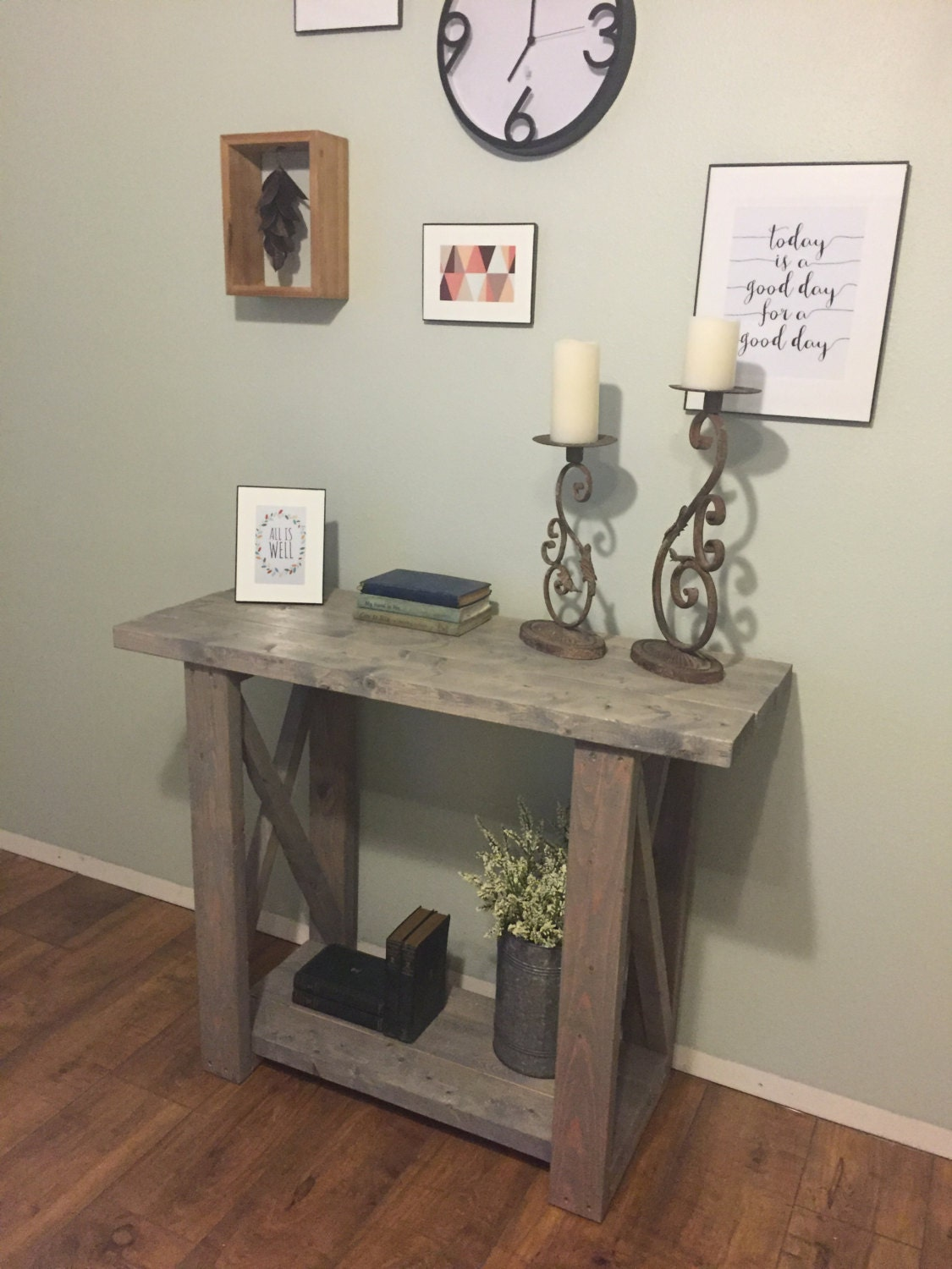 Foyer Table Etsy : Entryway table console by milkweedmill on etsy