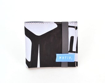 Skinny Wallet - Black Urban  Wallet, Desing Outdoors,  Made in USA, Unique, One of a Kind, Recycle, Repurpose, Reuse Sails